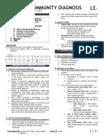 [EPI] 2.06 Community Diagnosis - Dr.zulueta