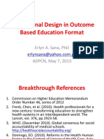 Instructional Design in Outcome Based Education