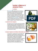 Alimentos Ayudan a Mejorar El Acondicionamiento Físico