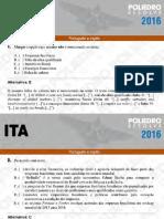 ITA - 2016 - Inglês - Questões 01 a 20