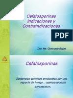 Cefalosporinas Indicaciones y Contradicciones Dra Consuelo Rojas
