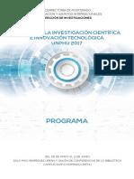 Programa Semana Investigacioìn Cientifica 2017 UNPHU