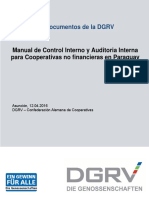 Manual de Control Interno y Auditoria Interna Para Cooperativas No Financieras