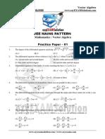 Mains Vector Algebra Paper 01