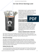 How Lubricants Can Drive Savings and Productivity