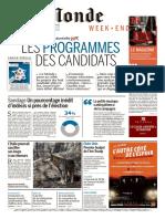 Le Monde Du Samedi 18 Mars 2017