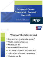 Colorectal Cancer Presentation Short Version