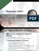 Pedoman Penerapan SMK3 PP 50 Tahun 2012