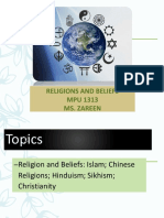 MPU 1313 - Religion and Belief