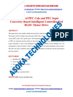 Analysis of PFC Cuk and PFC Sepic Converter Based Intelligent Controller Fed BLDC Motor Drive