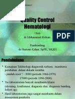 Quality Control Hematology