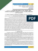 Study of Chromium Biosorption by Four Atlantic Algae