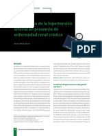 Tratamiento de La Hipertensión Arterial en Presencia de Enfermedad Renal Cronica