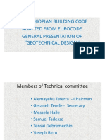 Presentation of New Ethiopian Building Code -Eurocode