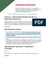 01nociones Básicas de La Psicopatología