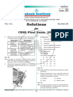 CBSE Mains 2010 Code C