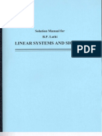 Solution Manual Linear Systems and Signals B P Lathi