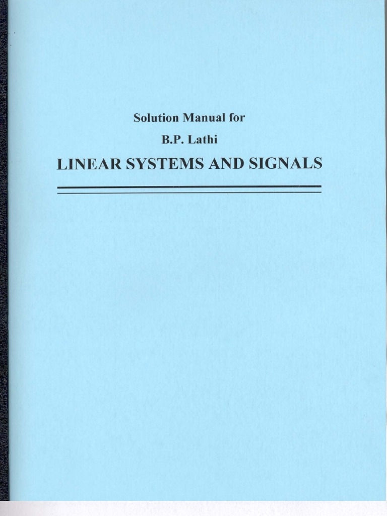 Principles of linear systems and signals, 2nd ed. By b. P. Lathi | ebay.