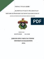 analisa berbandingan waktu pelaksanaan metode konstruksi top down dan bottom up studi kasus proyek hotel howard johnson makassar.pdf