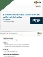Baromètre de l'action Sociale dans les collectivités territoriales - La Gazette - PLURELYA