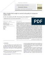 Effect of Piglet Birth Weight on Survival and Quality of Commercial
