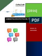 1. Administracion Del Tiempo (Vida) Manual Participante 2016