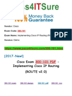 New Pass4itsure Cisco 300-101 PDF Exam - Implementing Cisco IP Routing (ROUTE v2.0)