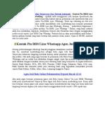 Kontak Pin BBM Line Whatsapp Agen Judi Asiabetking