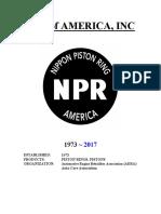 Nippon Piston Rings of American 2017