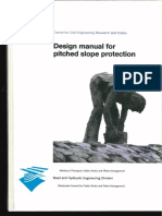 Design manual for pitched slope protection