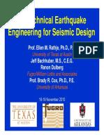 1_Seismic Design Framework