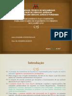 O Regime Jurídico das Comissões Parlamentares de Inquérito no Direito Moçambicano