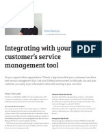 Integrating With Your Customer's Service Management Tool