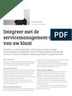 Integreer Met de Servicemanagement-Tool Van Uw Klant