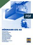 Hormann GTS 40 Einbauanleitung