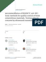Recommendation of RILEM TC 218-SFC Sonic Methods f