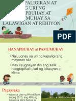 Ang Kapaligiran at Ang Uri Ng Hanapbuhay At