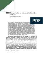 Interpretación en esbozo de la filosofía de Kant - Leopoldo Prieto