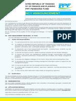 PPF Risk Management Vacancy Opt 1