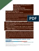 Criterios Para La Nivelación u Homologación de Remuneraciones Entre Trabajadores de Una Empresa o Entidad Pública