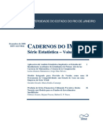 Cadernos Do IME - Serie Estatistica Vol 25