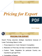 Export Pricing