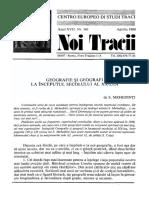 Nt161_apr88_centro Europeo Di Studi Traci Geografie Si Geografi , La Inceputul SecXX Mehedinti_lingvistica