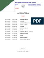 2016 2017 Structura an Licenta
