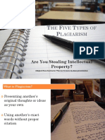 5 Types of Plagiarism