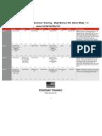 Summer Training MileSplit Weeks 1-4