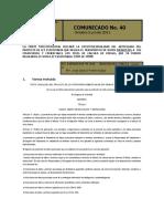 185_Comunicado de Prensa No. 40