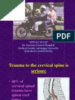 Algorithm of c Spine Injuries (Langkawi)