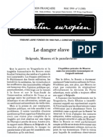 Bullet Europ Mai 99 Le Danger Slave - Fondazione Europea Dragan