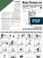 Euro Towers Ltd Klick Double Width Instruction Manual